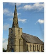 St Mary's Church - Coton In The Elms Fleece Blanket