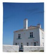 St. Mary's Island And The Lighthouse. Fleece Blanket