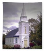St. Mathews Chapel In Sugar Hill Fleece Blanket