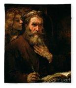 St Matthew And The Angel Fleece Blanket