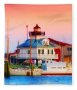 St. Michael's Lighthouse Fleece Blanket