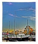 St. Michael's Marina On The Chesapeake Fleece Blanket