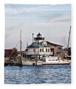 St Michael's Maryland Lighthouse Fleece Blanket