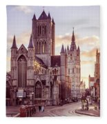 St. Nicholas Church, Gent Fleece Blanket