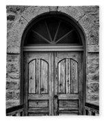 St Olafs Church Door Fleece Blanket
