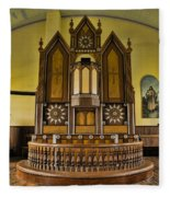 St Olafs Kirke Pulpit Fleece Blanket