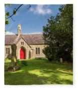 St Oswald's Church Entrance Fleece Blanket