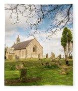 St Oswald's Church Graveyard Fleece Blanket
