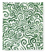 St Patrick's Day Abstract Fleece Blanket