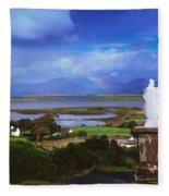 St Patricks Statue, Co Mayo, Ireland Fleece Blanket