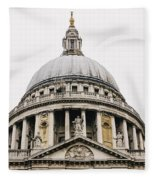 St Paul Cathedral Dome Fleece Blanket
