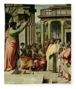 St. Paul Preaching At Athens  Fleece Blanket