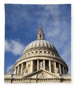 St Pauls Cathedral London England Uk Fleece Blanket