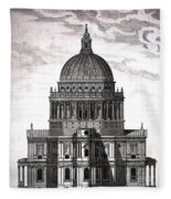 St. Pauls Drawn By Christopher Wren Fleece Blanket