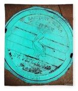 St Petersburg Manhole Fleece Blanket