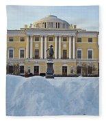 St Petersburg, Russia, Pavlovsk Palace Fleece Blanket