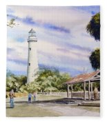 St. Simons Island Lighthouse Fleece Blanket