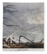 St. Thomas: Hurricane, 1819 Fleece Blanket