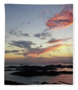 St. Thomas Sunset Fleece Blanket