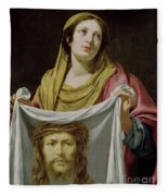St. Veronica Holding The Holy Shroud Fleece Blanket
