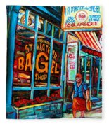 St. Viateur Bagel Bakery Fleece Blanket