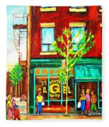 St. Viateur Bagel With Shoppers Fleece Blanket