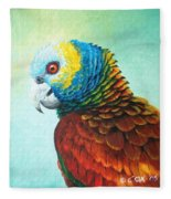 St. Vincent Parrot Fleece Blanket