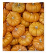 Stacked Mini Pumpkins Fleece Blanket
