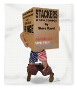 Stackers Poster Fleece Blanket