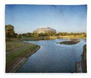 Stadium And Park Panorama Bleach Bypass Fleece Blanket