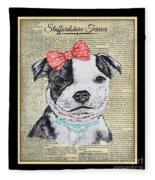 Staffordshire Terrier-jp3857 Fleece Blanket