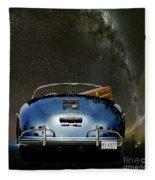Star Gazing,1955 Porsche 356a 1600 Speedster, Under The Milky Way Fleece Blanket