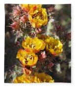 Staghorn Cholla Blossoms Fleece Blanket