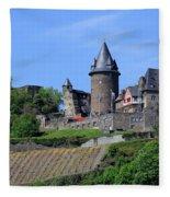 Stahleck Castle In The Rhine Gorge Germany Fleece Blanket