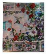 Stain Glass - Bath House - Hot Springs, Ar Fleece Blanket