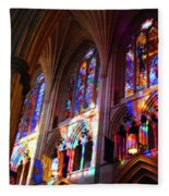 Stain Glass Cathedral Fleece Blanket