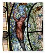 Stain Glass Set 3 - Bath House - Hot Springs, Ar Fleece Blanket