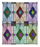 Stained Glass Abstract Fleece Blanket
