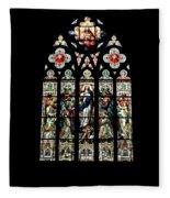Stained Glass At St. John's Fleece Blanket