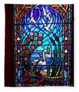 Stained Glass Beauty #20 Fleece Blanket