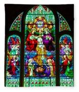 Stained Glass Fleece Blanket