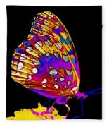 Stained Glass Butterfly Fleece Blanket