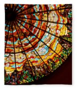 Stained Glass Ceiling Fleece Blanket