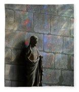 Stained Glass Illuminates Christ Fleece Blanket