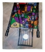 Stained Glass Sofa Table Fleece Blanket