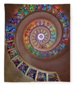 Stained Glass Spiral Fleece Blanket