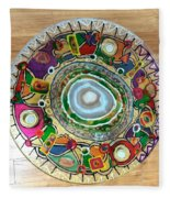 Stained Glass Table Top Fleece Blanket
