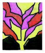 Tree - Stained Glass Watercolor Fleece Blanket