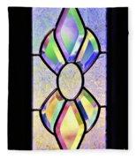 Stained Glass Watercolor Fleece Blanket