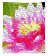 Stained Glass Waterlily Fleece Blanket